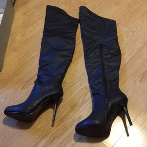 Sexy Thigh High Boots  brown 8.5